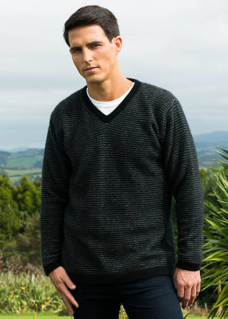 KO830 Striped V neck jumper