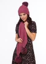 KO1018 Fur pompom scarf