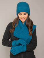 KO2010 KO1010 & KO310 Moss stitch beanie, scarf and gloves