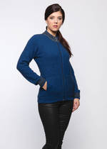 KO516 Textured collar jacket