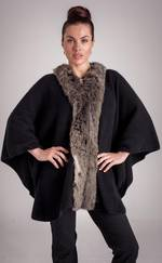 KO89 Fur Trim Cape