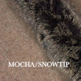 Fur trim swatch mocha snowtip edit
