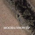 Fur trim swatch mocha snowtip edit