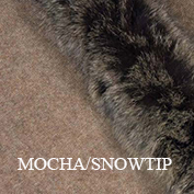 Fur trim swatch mocha snowtip koru website