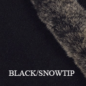 Fur trim swatch black snowtip koru website