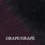Fur trim swatch grape grape koru website