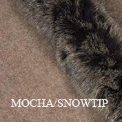 Fur trim swatch mocha snowtip koru website